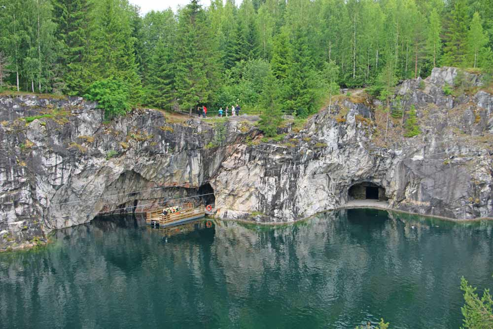 The Marble quarry is one of the unique day trips in St.Petersburg