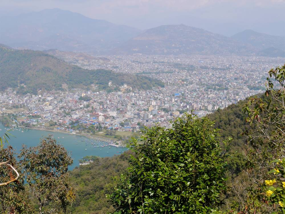 Pokhara from the top of the hill, Panchase trek
