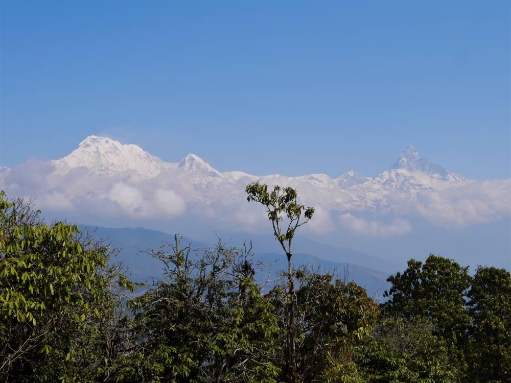 Snow peaks, Bhadaure, Panchase trek