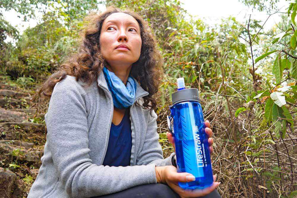 LifeStraw bottle is a great item to have for any trek in Nepal