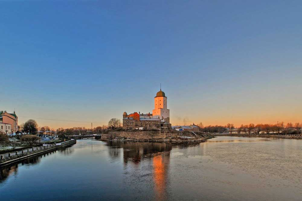 Vyborg Castle is one of the few castles in Saint Petersburg