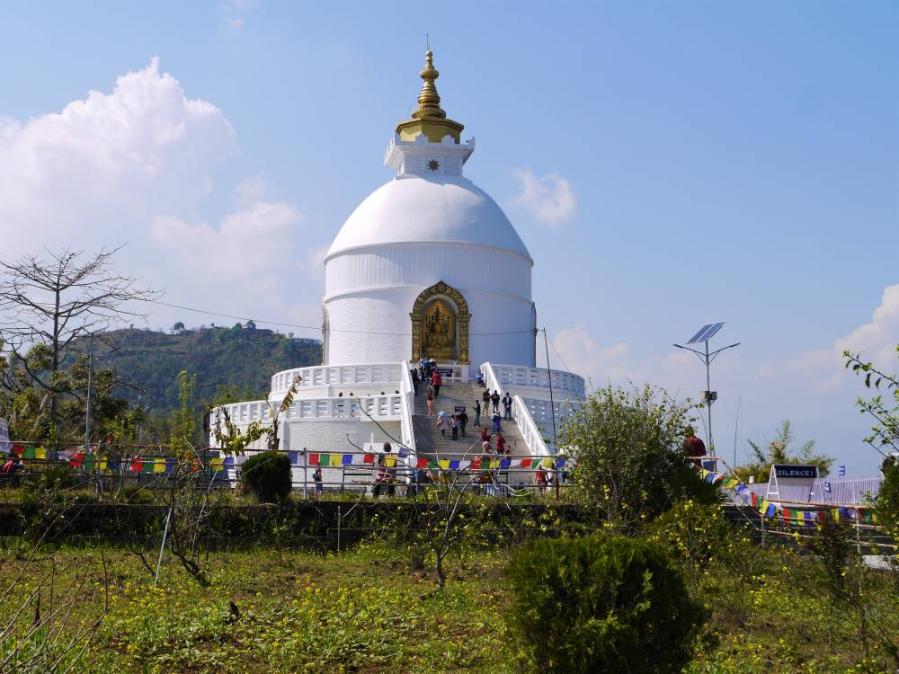 The World Peace pagoda, Pokhara