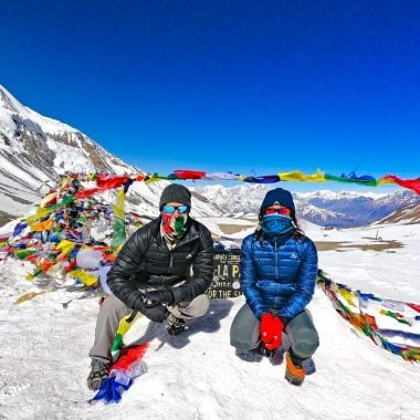 Stingy Nomads at Thorong La Pass, Annapurna Circuit, Nepal