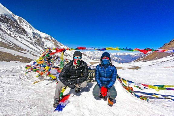 Stingy Nomads at Thorong La Pass, Annapurna Circuit, Nepal