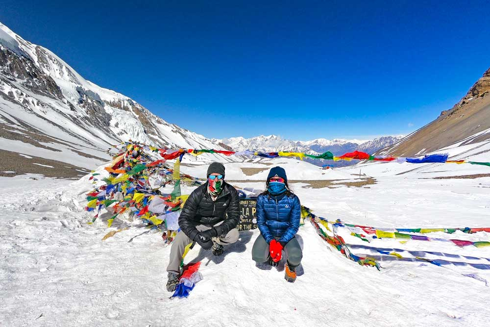 Stingy Nomads at the top of Thorong La Pass