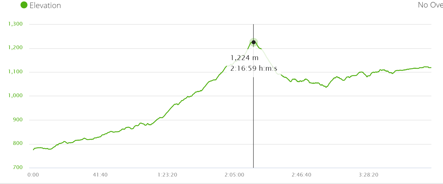 Elevation profile walk from Bhulbhule to Ghermu.