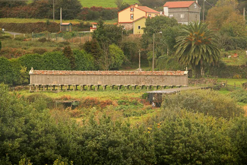 The granary of Ozon in Galicia on the walking route to Muxia