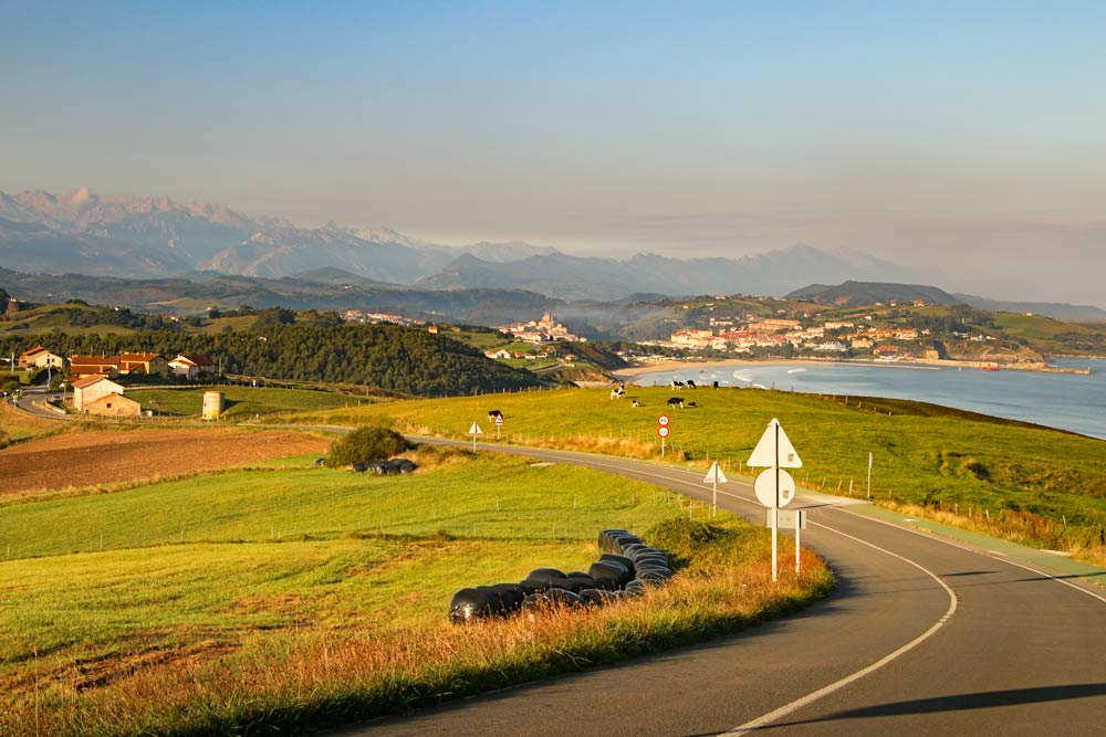 A beautiful coastal scenery in Asturias on the Camino del Norte route