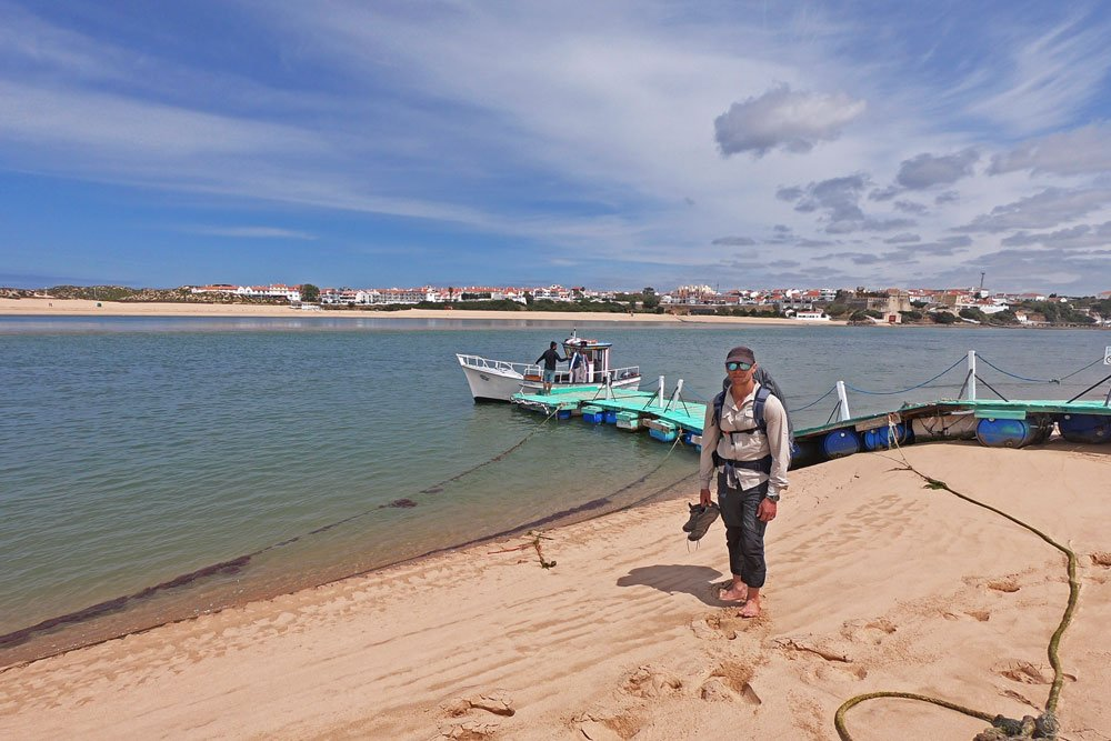 Ferry across the river from Vila Nova de Milfontes, the Fishermen's Trail