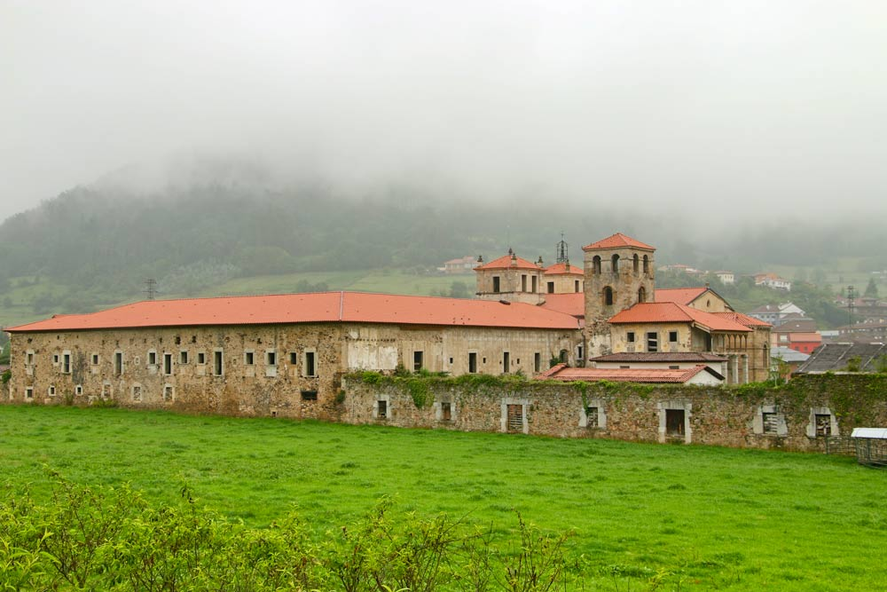 An old monastery on the Camino Primitivo