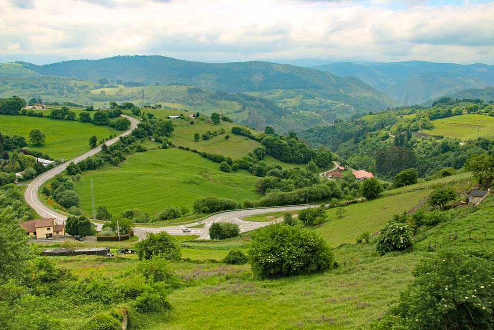 A countryside scenery on the Camino Primitivo