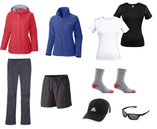 Recommended outfit for women for walking the Camino