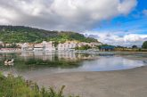 A picturesque surrounding of Pontedeume, a small town on the Camino Ingles in Spain