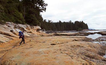 Walking close to the sea, Botanical Beach, Juan de Fuca trail.