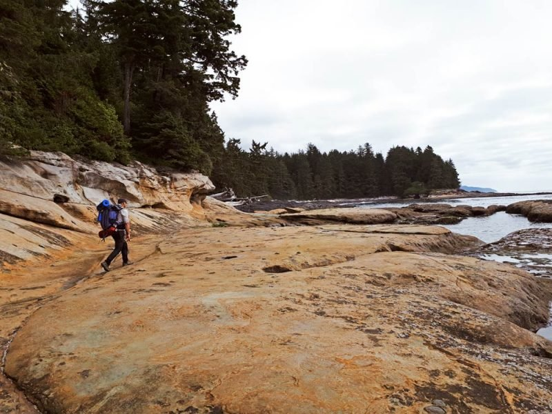 Walking close to the sea, Botanical Beach, Juan de Fuca trail.