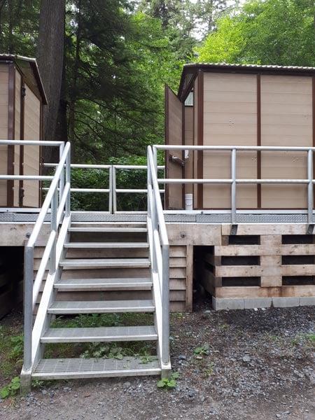 Juan de Fuca trail toilets from outside