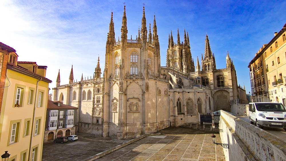 The beautiful Gothic cathedral of Burgos, Camino Frances, Spain