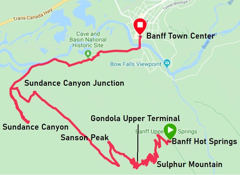 Banff hiking map
