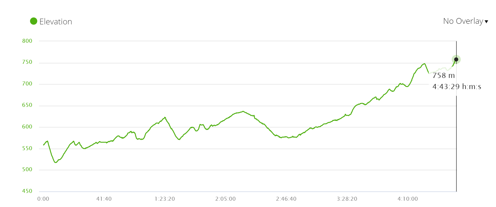 Camino Francés elevation profile stage 11