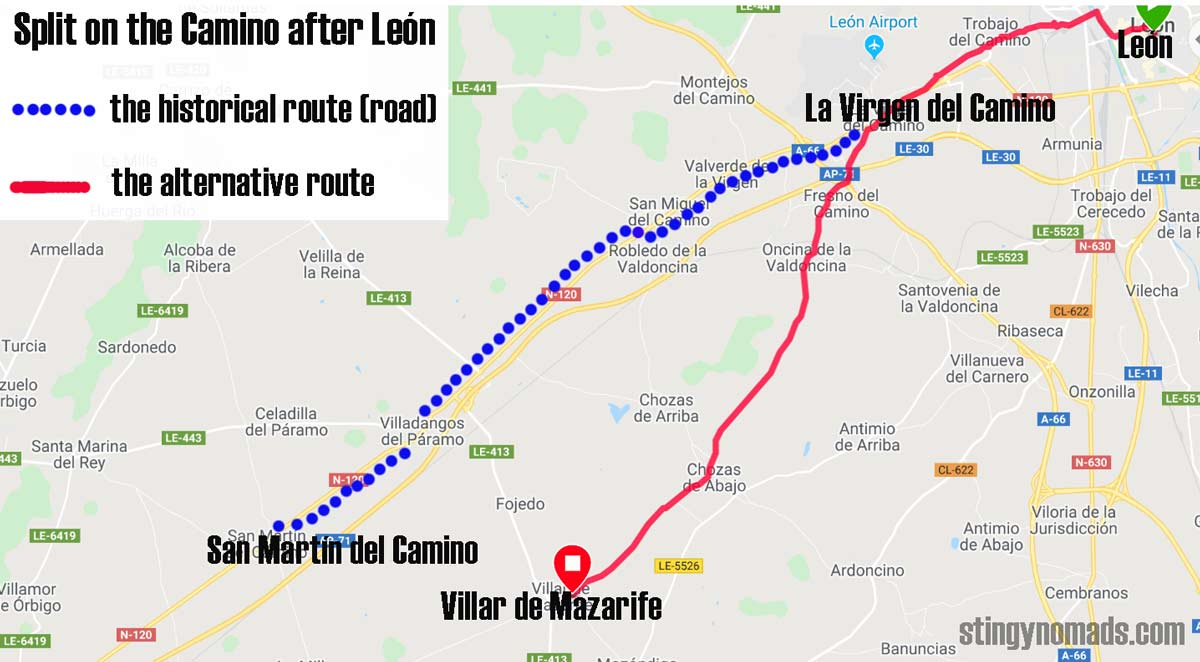 Split on the Camino Francés after León