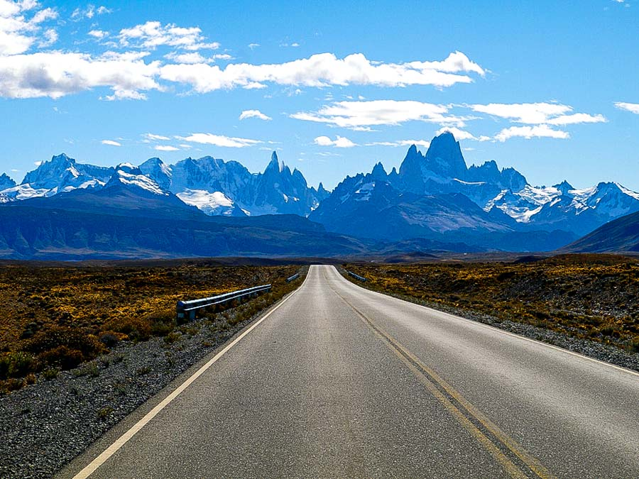 Approaching El Chalten and Mt.Fitz Roy, Patagonia, Argentina