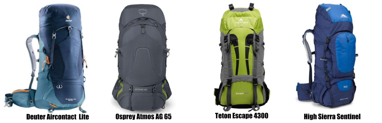 Backpacks for hiking in Patagonia