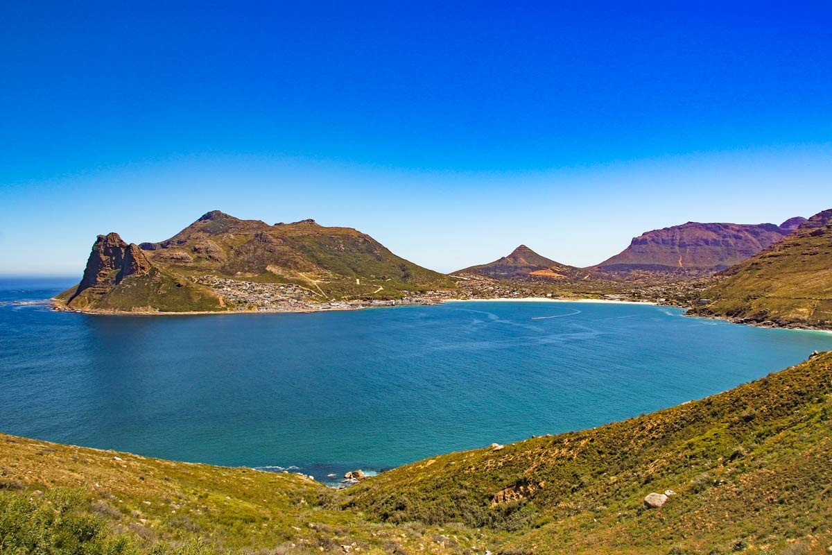 Scenery on Chapmans Peak scenic drive in Cape Town