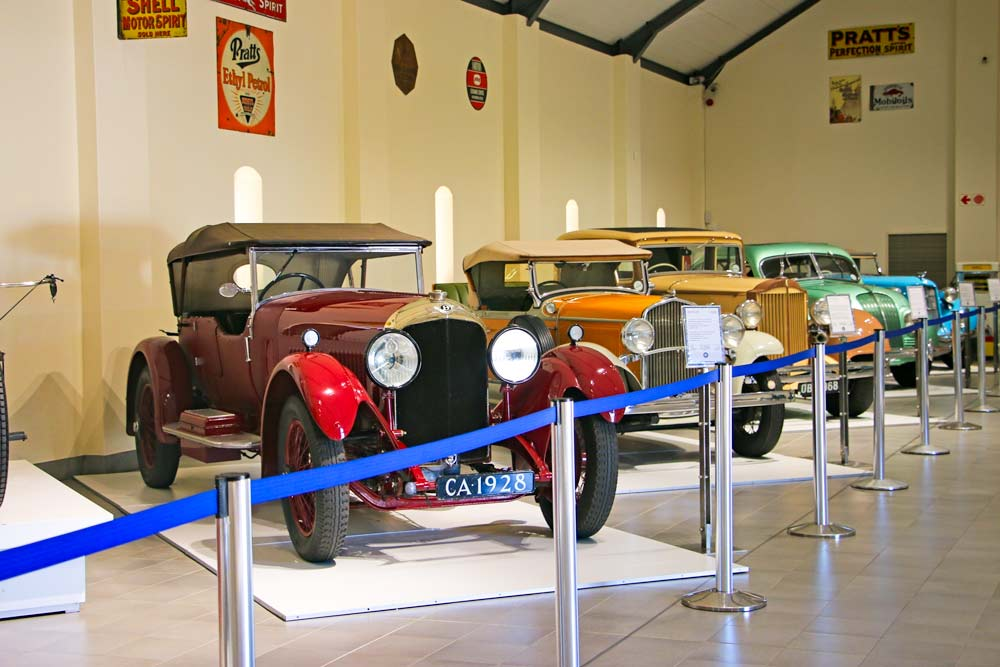 Vintage cars at the Motor Franschhoek Museum