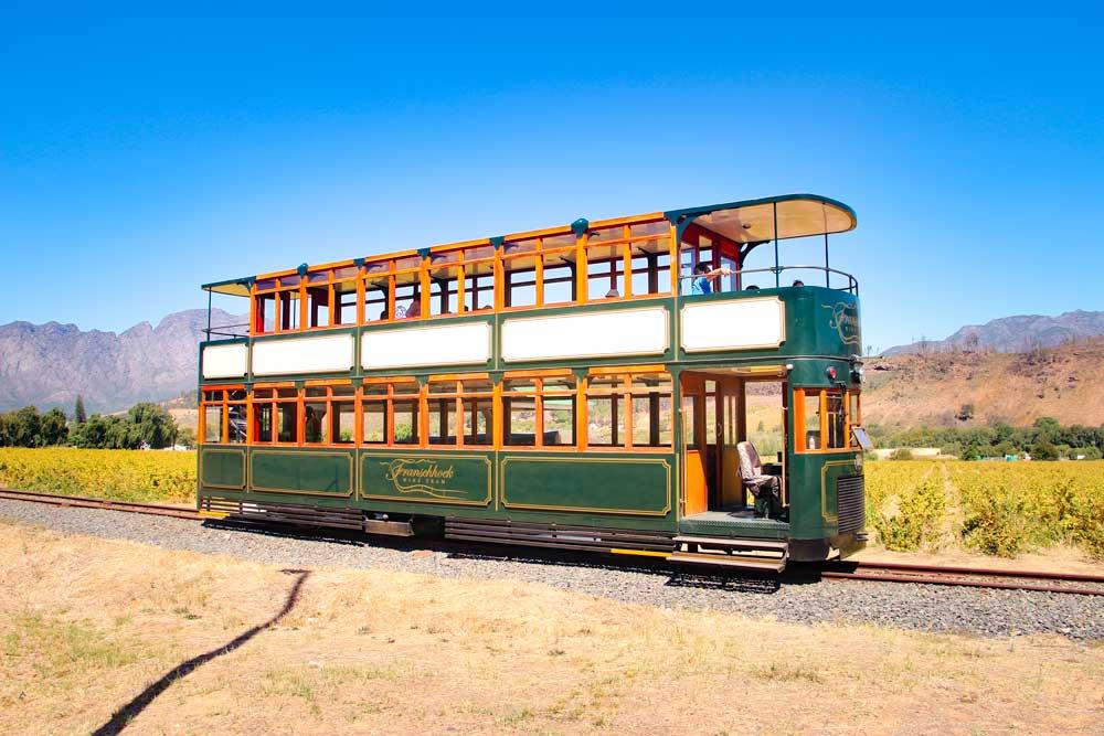 Franschhoek double decker wine tram