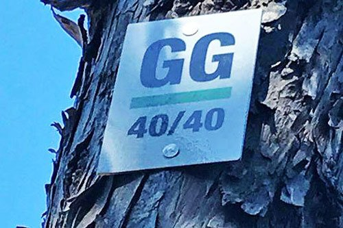 Grouse Grind hike sign 40/40