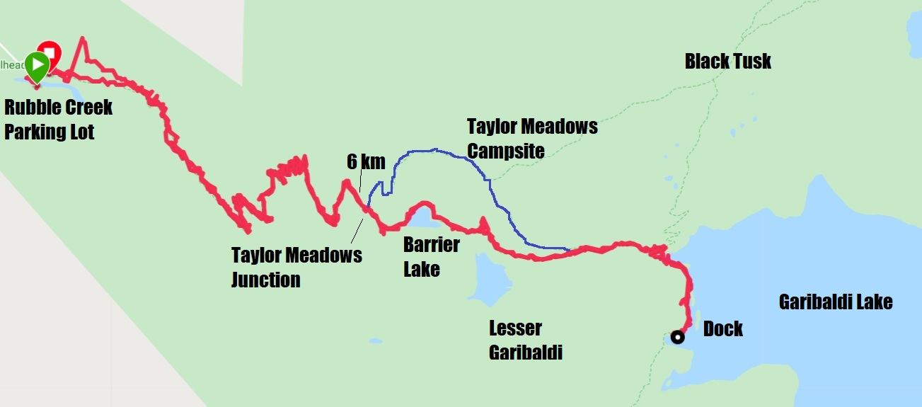 Hike Garibaldi Lake Map