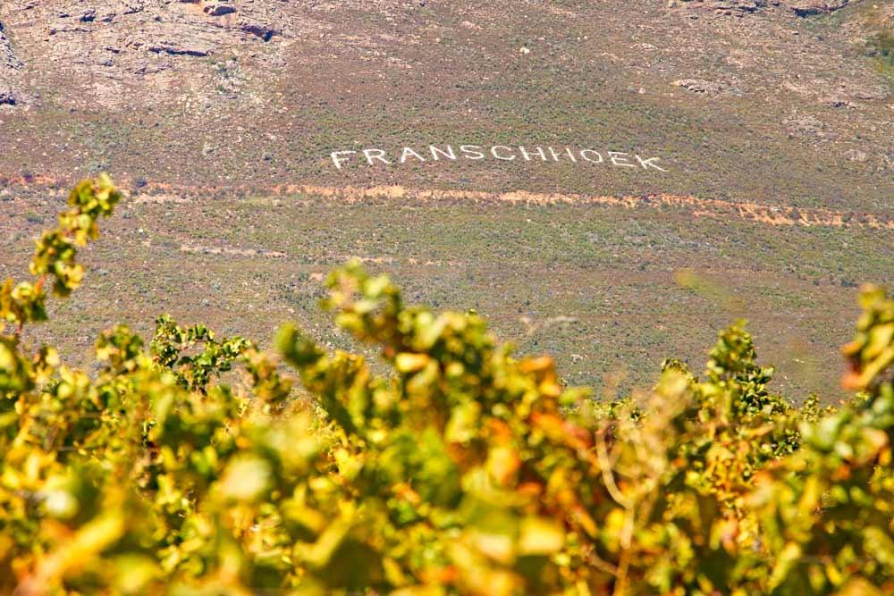 Beautiful scenery around Franschhoek, Cape Town