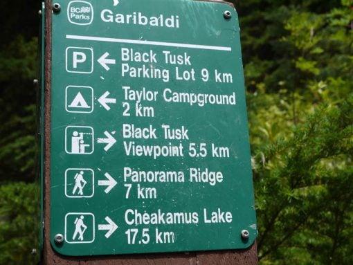 black tusk sign garibaldi lake trail