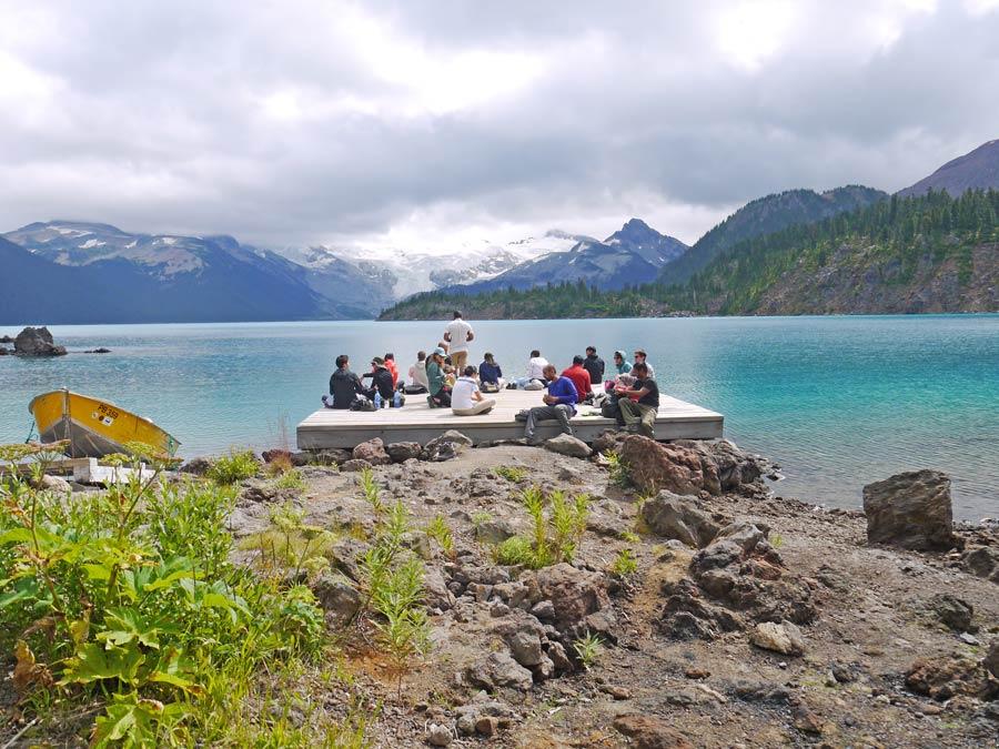 Doc on Garibaldi lake