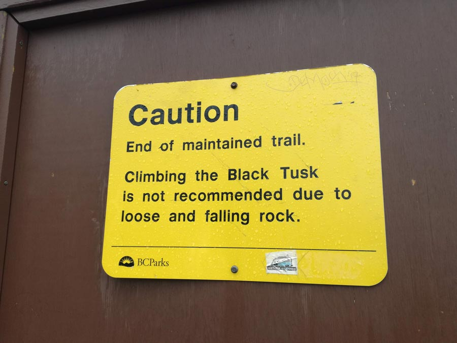 end of trail sign black tusk