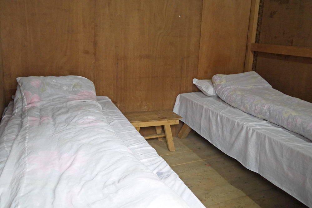 A typical room in a guesthouse on the Langtang trek