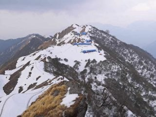 A view of High Camp on the Mardi Himal trek