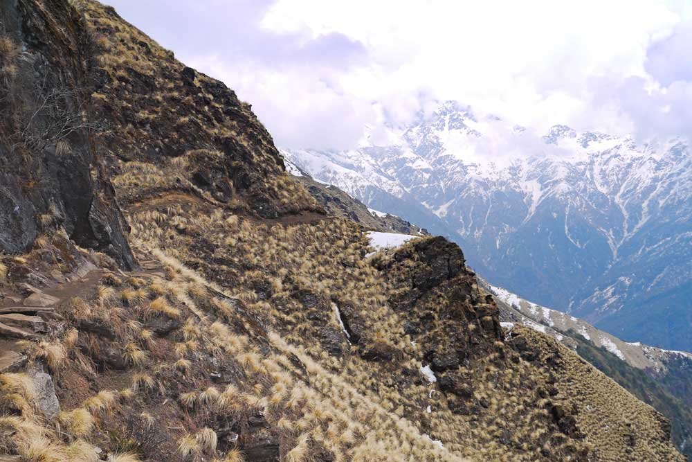 A hiking trail on the Mardi Himal trek