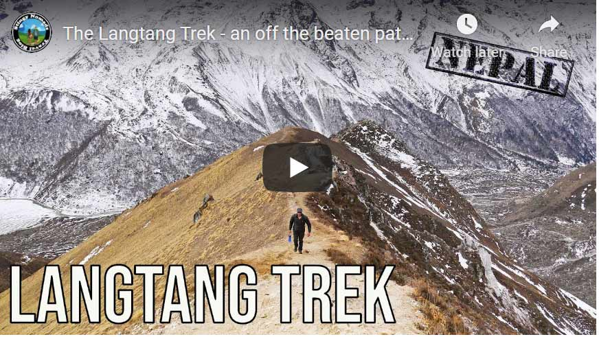 YouTube thumbnail of the Langtang trek video