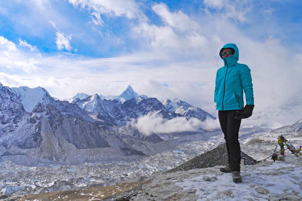 Alya on the top of Kala Patthar, EBC trek, Nepal