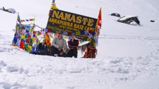 Stingy Nomads at Annapurna Base Camp