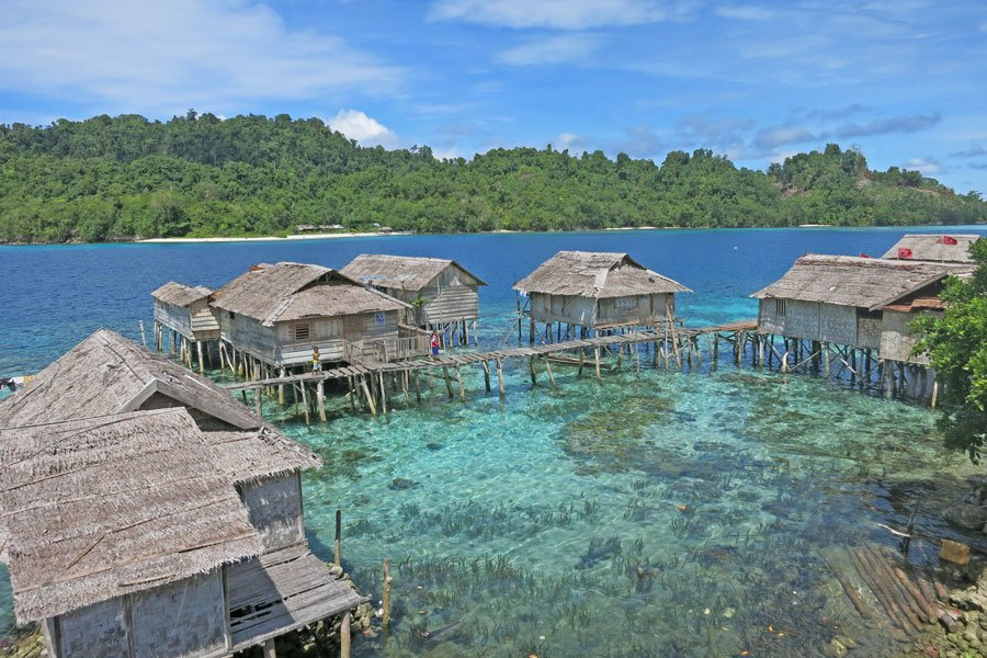 Kadidiri a village of Bajua people, the 'sea gypsies' of Indonesia, Togean Islands, Sulawesi.