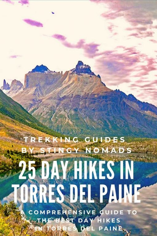Best day hikes in Torres del Paine pin