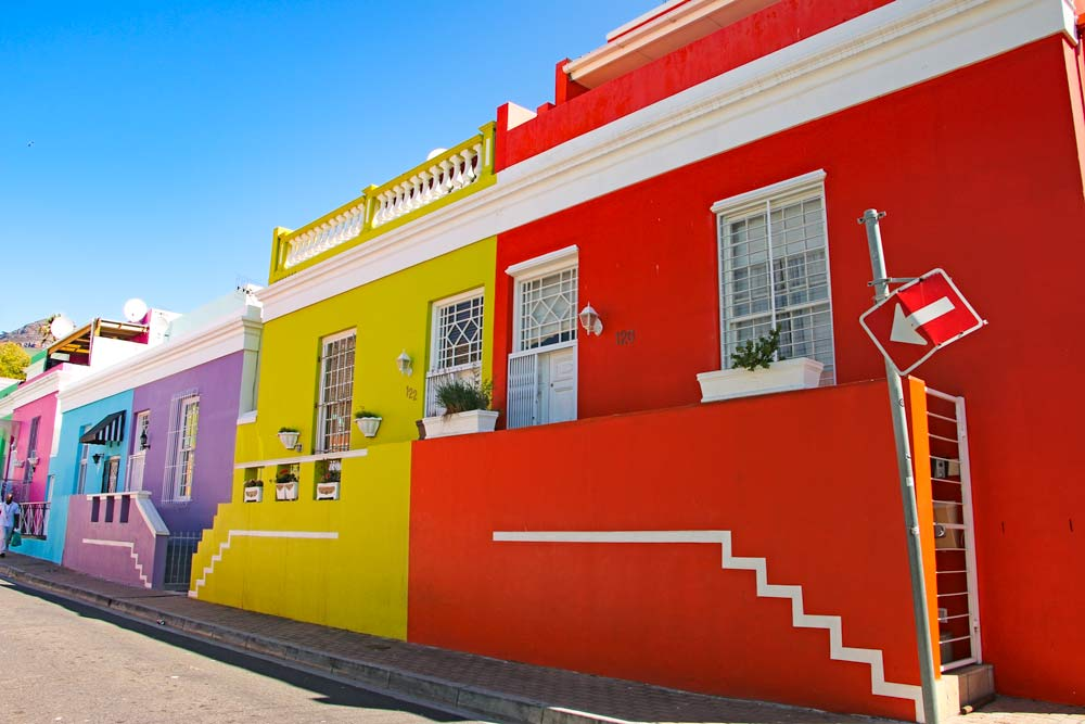 Colorful houses of Bo Kaap one of the bucket-list places for tourists in Cape Town