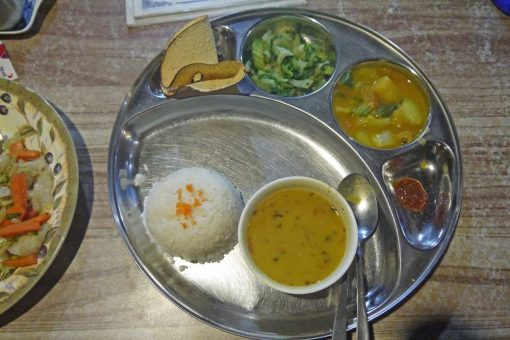 Dal Bhat is the most popular food in Nepal