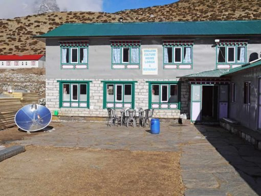 A double story guesthouse on EBC trek, Nepal