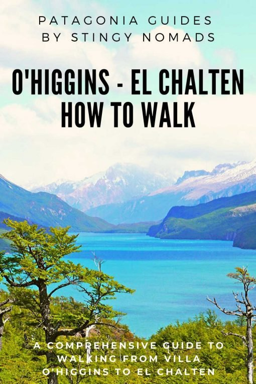 Walking from Villa O'Higgins to El Chalten pin