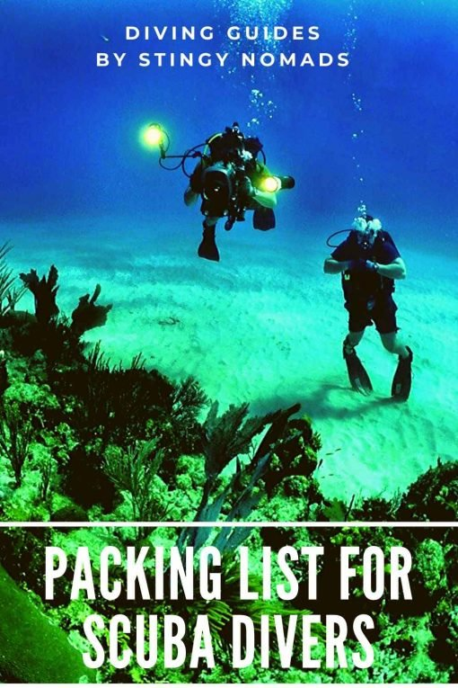 Packing list for scuba divers pin