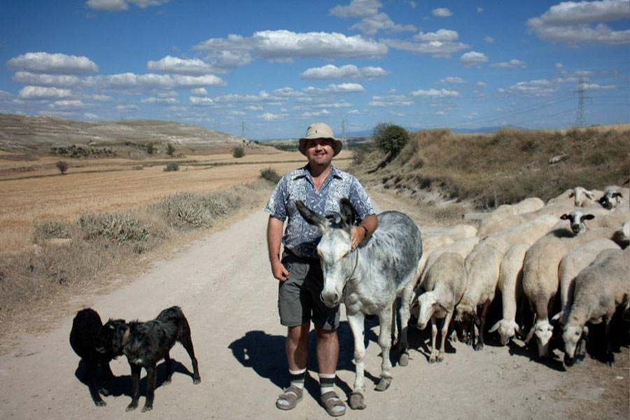 Pilgrim on first Camino de Santiago