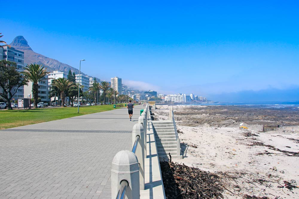 The Promenade at Sea Point a nice place to come for a stroll along the sea